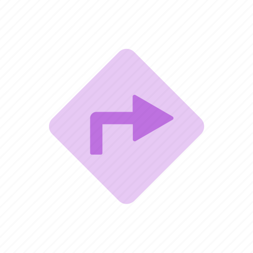 arrow, direction, directions, map, navigation, route, routing icon