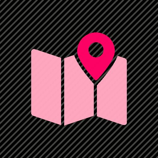gps, map, map pin, navigation, pin, routing icon