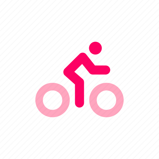 bicycle, cycle, cycling, map, transportation mode icon