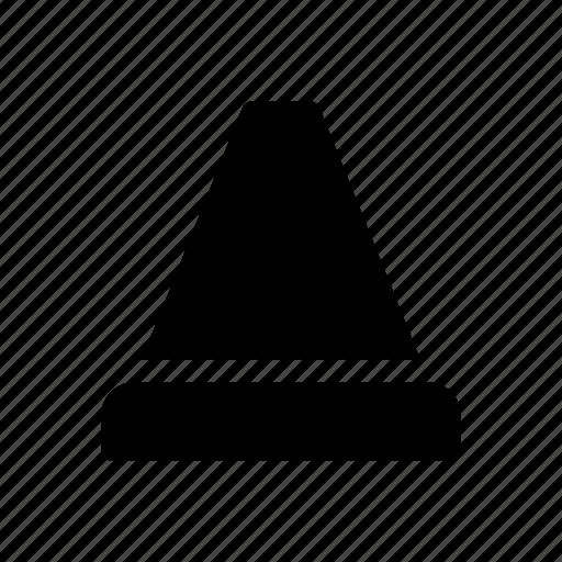 location, map, navigate, navigation, traffic cone icon