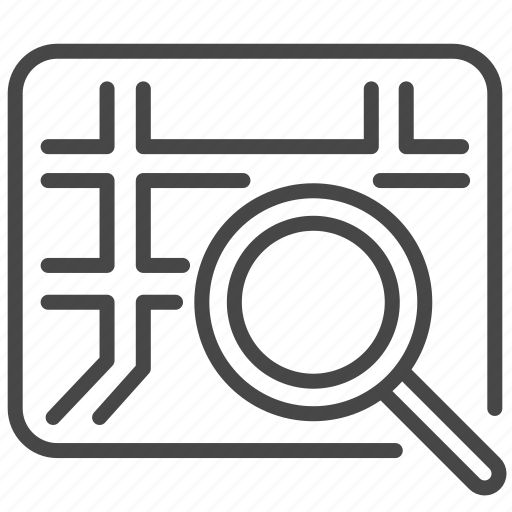 direction, gps, map, navigation, navigator, search icon