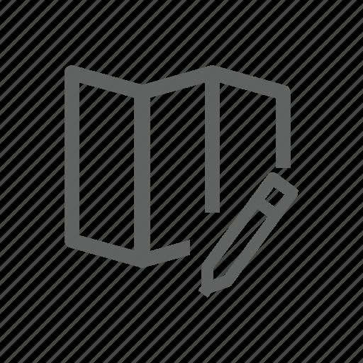 edit, map, navigation, pen, pencil icon