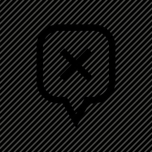 error, location remove, pin, remove location, remove marker, remove pin icon