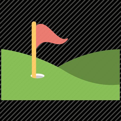 countryside golf course, golf club, golf course, golf flag, golf ground icon