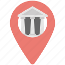 bank gps location, bank location, bank location pin, navigation, pin bank icon