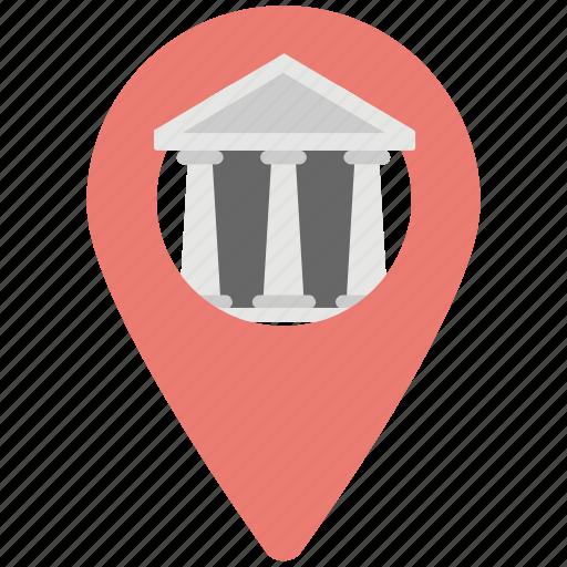 bank gps location, bank location, bank location pin, navigation, pin bank icon