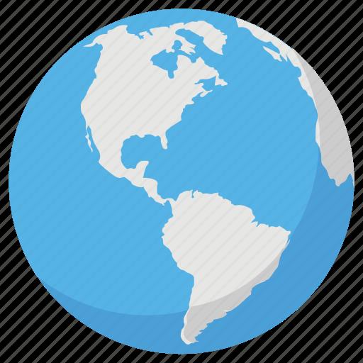 earth, globe, orbit, sphere, world icon