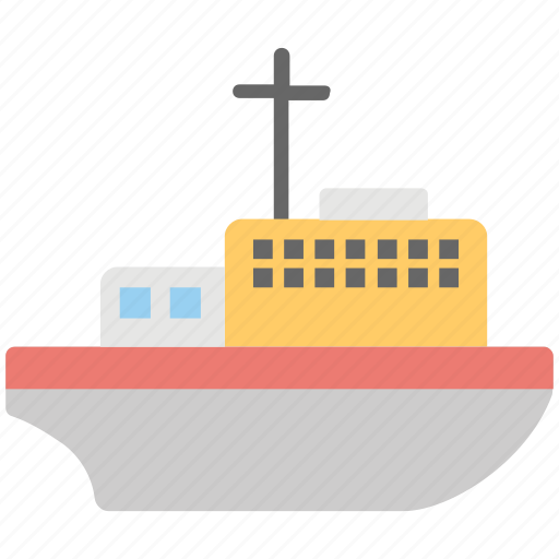 boat, cargo boat, cargo ship, sailing vessel, ship icon