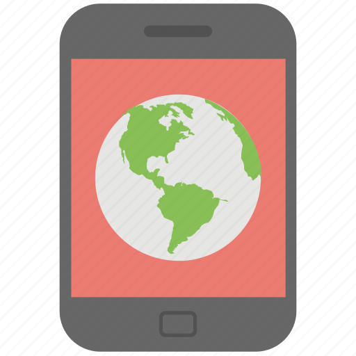 global connectivity, global location, mobile earth, mobile gps app, mobile navigation app icon