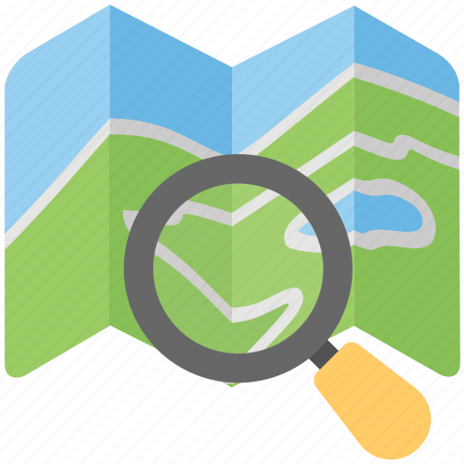 cartography, discovery, location search, navigation, search map icon