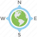 cardinal directions, compass directions, global destination, global directions, world tour icon