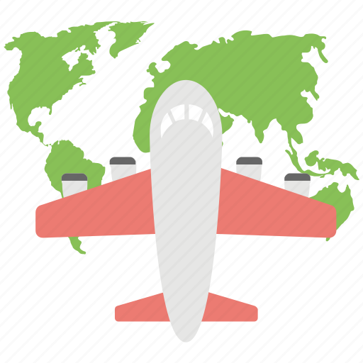 global traveling, international traveling, round the world, world destination, world tour icon