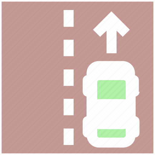 car, driveway, highway, road, roadway, transport, travel icon
