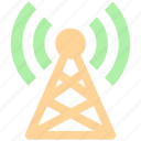 communication, network, signals, tower, wifi antenna, wifi signals, wifi tower, wireless, wireless antenna icon