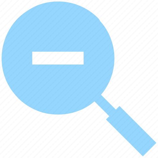 enlarge, find, glass, in, magnifying, minus, search, zoom, zoom out icon