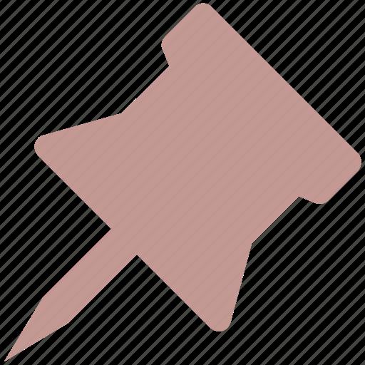 board pin, paper, pin, push pin icon