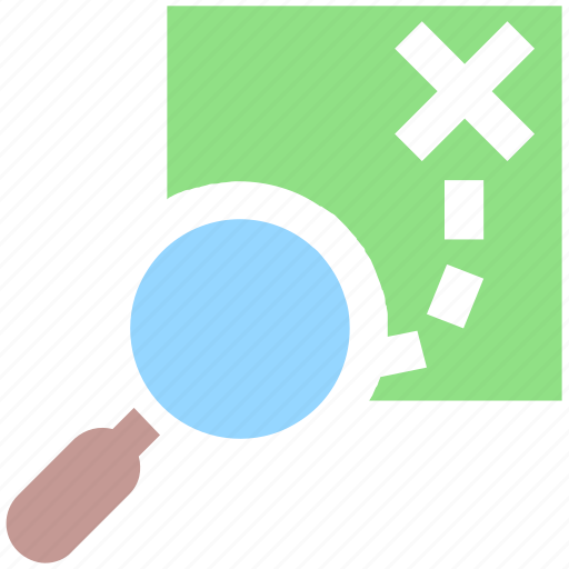 direction, find, location, magnifier, magnifying glass, map, navigation, paper, road direction, search icon