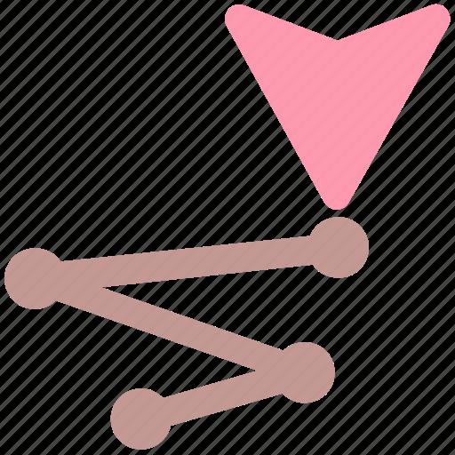 direction, location, marker, path, road icon