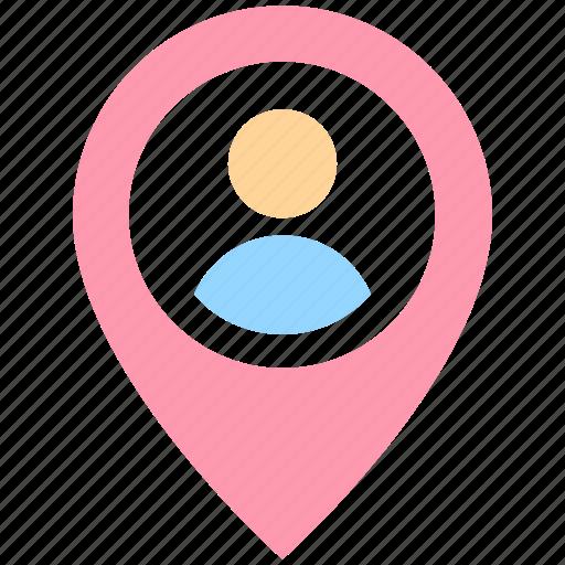 direction, location, location pin, man, man location, map, map pin, person location, pin, user, user placeholder icon