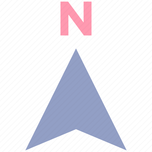 arrow, compass, direction, gps, map, navigation, north icon