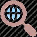 earth, find, globe, internet, network, search, web, world icon