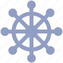 boat, boat handle, handle, marine, sail, sea, ship, ship handle, vehicle, wheel icon