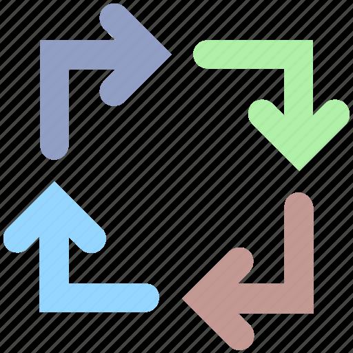 arrow, arrows, direction, four, motion, navigation icon