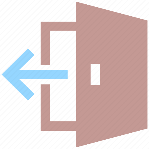 arrow, departure, door, exit, log out, out, output icon