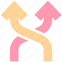 arrows, direction, mix, mixed, road direction, road sign, shuffle