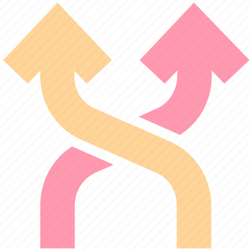 arrows, direction, mix, mixed, road direction, road sign, shuffle icon