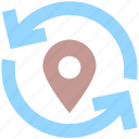 arrows, direction, gps, location, map, map pin, navigation, pin, pointer icon