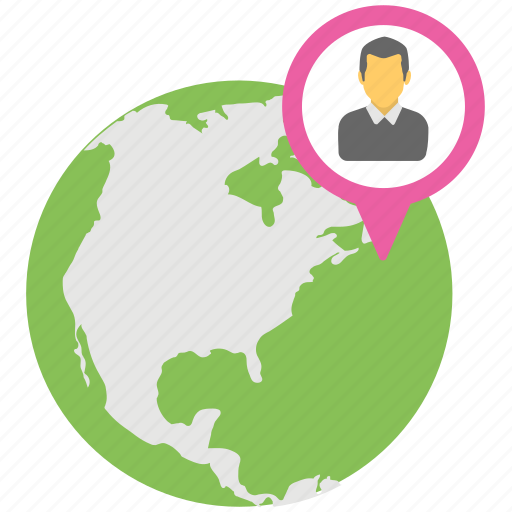 global community, global man, internet user, location positioning, pin ma icon