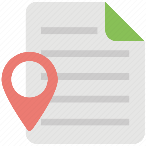 cartography, geography, gps document, gps information, navigation archive icon