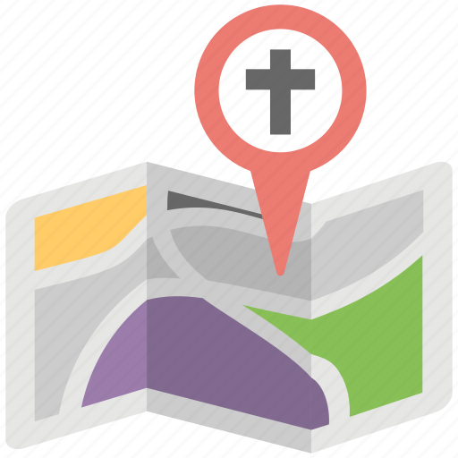 church location, church location pin, map location, navigation concept, navigation gps icon