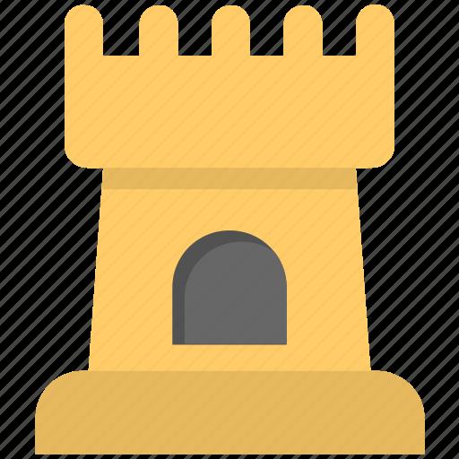 castle, castle building, castle tower, medieval, sand castle icon