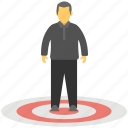 target audience, target customer, user location, user positioning, user target icon