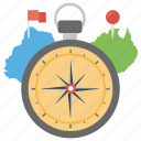 city, compass, map, tourism, travel icon