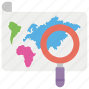 finding address, finding location, geolocation, location search, map search icon