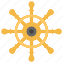 boat navigation, rudder, sailing ship, ship's helm, steering ship wheel. icon