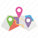 city map, location markers, location pointer, map markers, map pointer, pin place icon