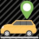 car locator, gps, navigation, navigator, vehicle tracking icon