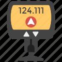 cab meter, gps, taxi meter, travel, trip meter icon