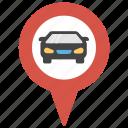 car location, car pointer, gps, navigation, vehicle location icon