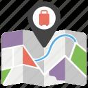 destination, gps, location, map, tour guide, travel guide icon