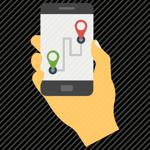 Google Maps Map Application Mobile App Mobile Maps Mobile Navigation Phone Map Smartphone App Icon Download On Iconfinder