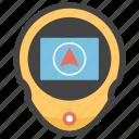 directional app, gps, handheld gps, navigation app, navigation device, navigator icon
