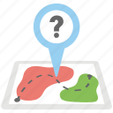 geotag question mark, mapinfo point, navigation help sign, navigation problem, satellite map icon