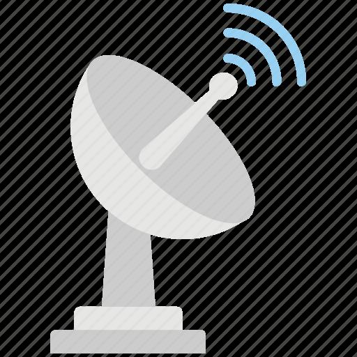 dish aerial, disha antenna, radio telescope, satellite dish, wireless icon