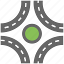 drive roundabout, highway, road intersection, road roundabout, road roundabout system icon