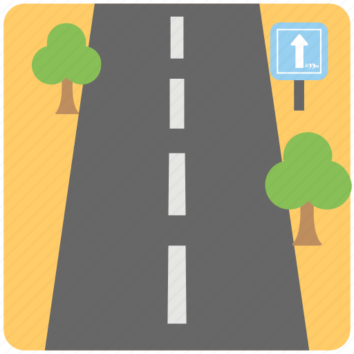 driving, path, road, road traveling, roadway icon